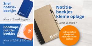 Notitieboekjes met je eigen logo